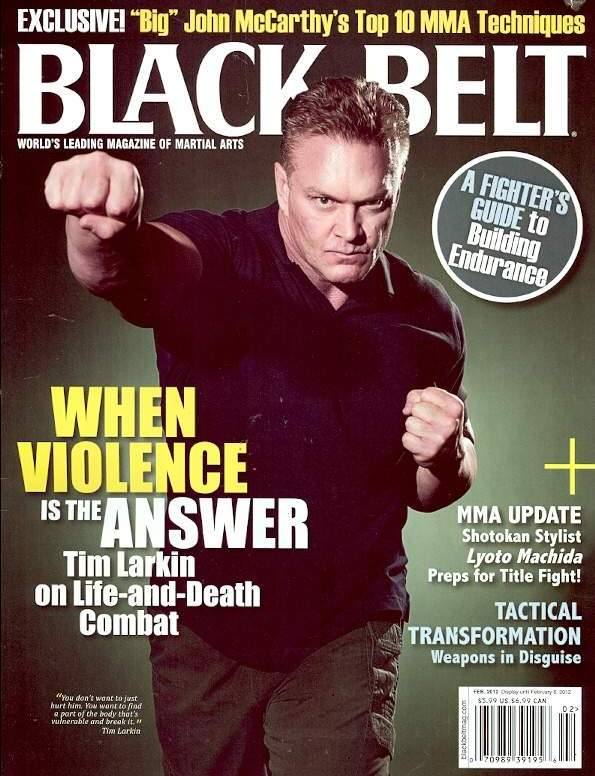 Tim Larkin on front cover of Black Belt magazine