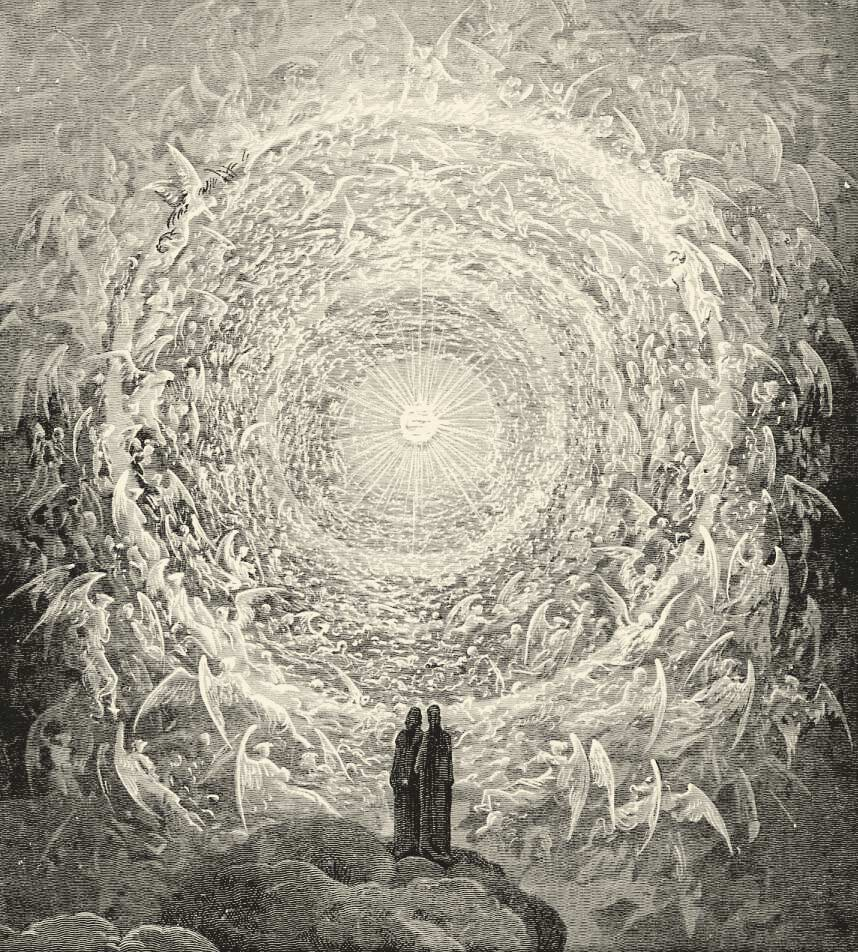 God and Angels by Gustave Doré