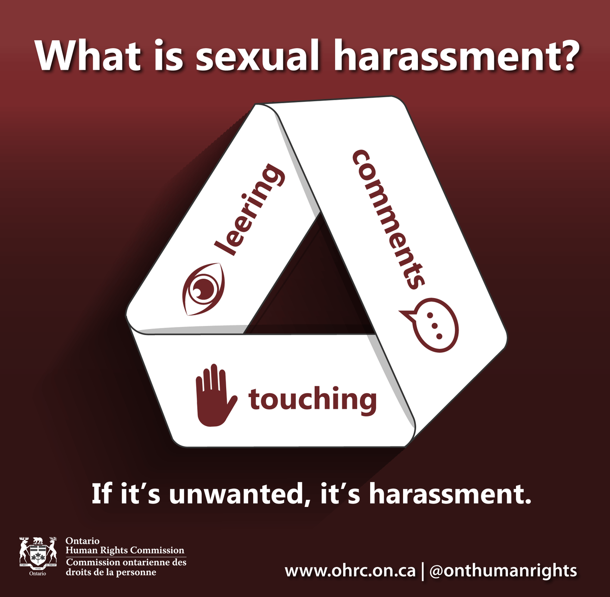 'If it's unwanted, it's harassment' image