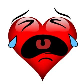 Crying heart graphic