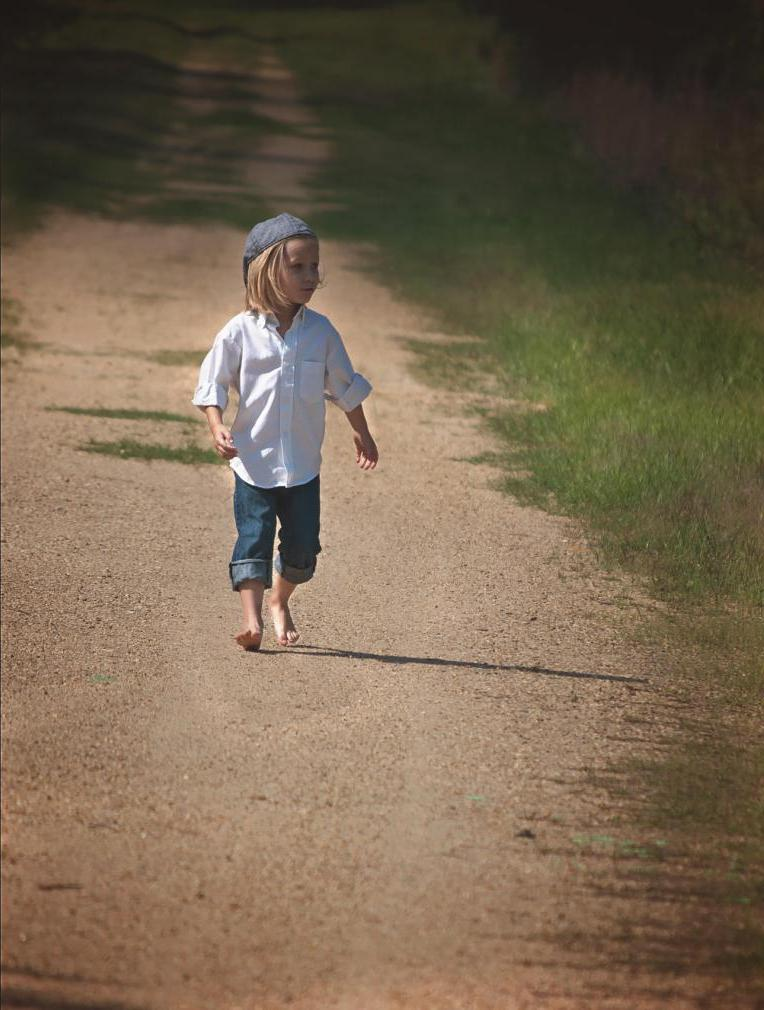 Child on path