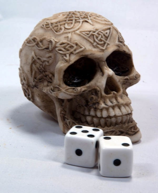 Skull and dice