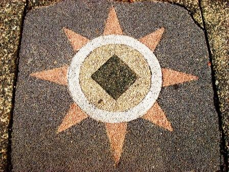 Stone slab with star imagery